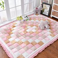 韩式加厚短毛绒家用地毯卧室床边爬行垫